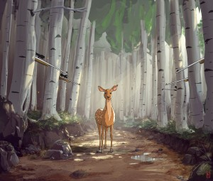 deer-in-wood